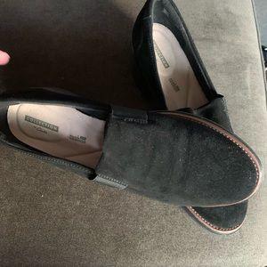 New velvet wedge shoes